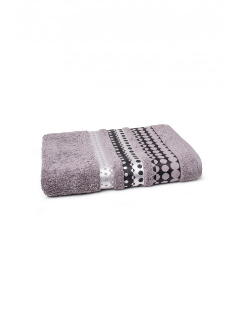 Ręcznik bawełniany w kolorze szarym 70x140 cm