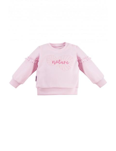 Bluza niemowlęca NATURE różowa