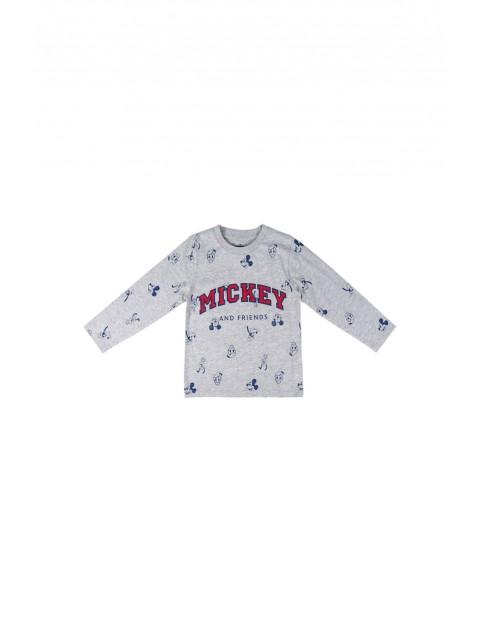 T-shirt chłopięcy z długim rękawem  Mickey Mouse - szary