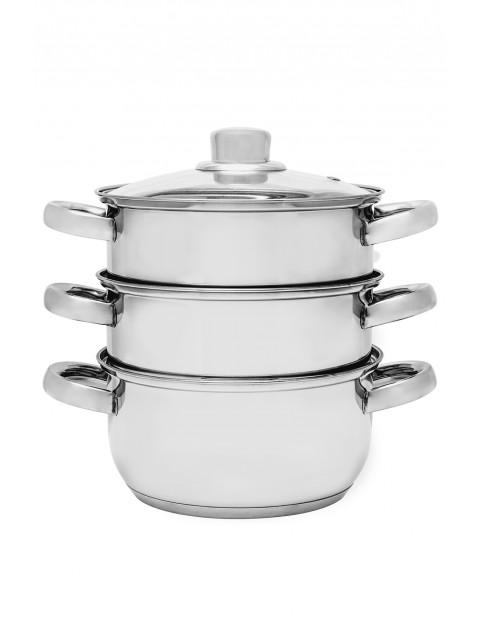 Garnek nierdzewny Divapore do gotowania na parze w kolorze srebrnym - 18 cm - 4 elementy