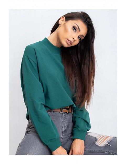 Bluza dresowa damska - zielona