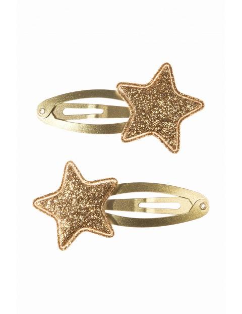 Spinki do włosów- złote gwiazdki 3Y3541