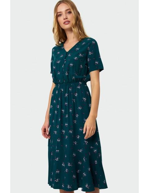 Wiskozowa sukienka z kwiatowym nadrukiem