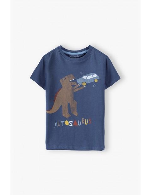 T-shirt chłopięcy bawełniany z humorystycznym nadrukiem