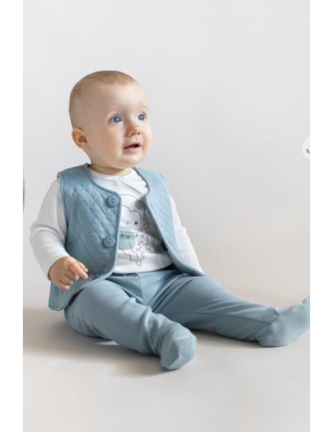 Półśpioch bawełniany niemowlęcy SLOW LIFE - niebieskie