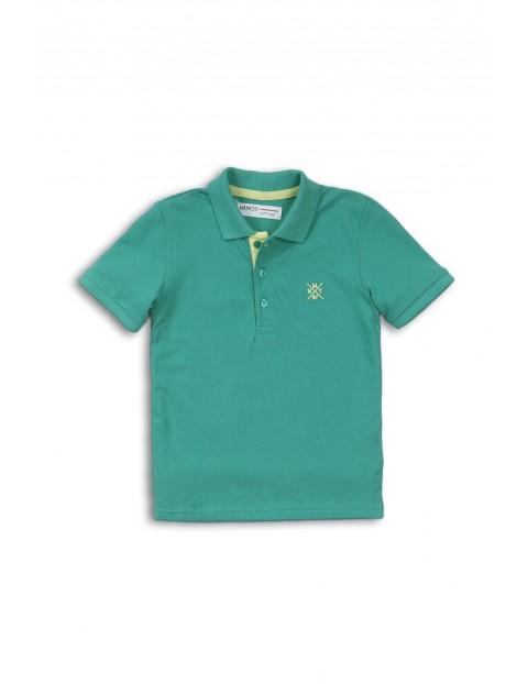 Bluzka niemowlęca zielona z kołnierzykiem
