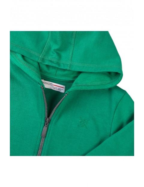 Bluza dresowa niemowlęca z kapturem zielona
