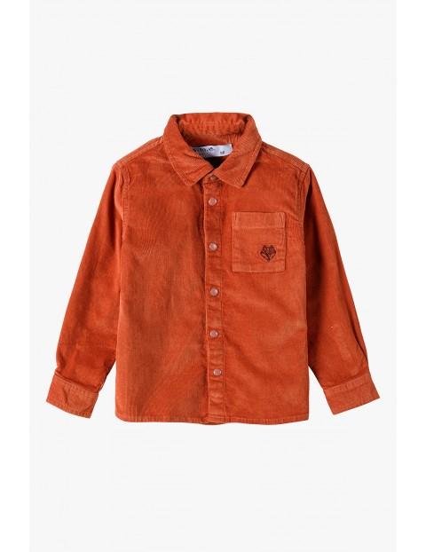 Elegancka koszula niemowlęca prążkowana z kieszonką