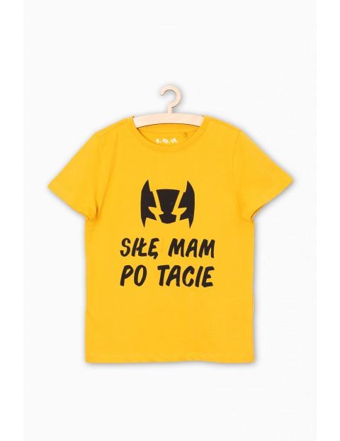 T-shirt chłopięcy- Siłę mam po tacie