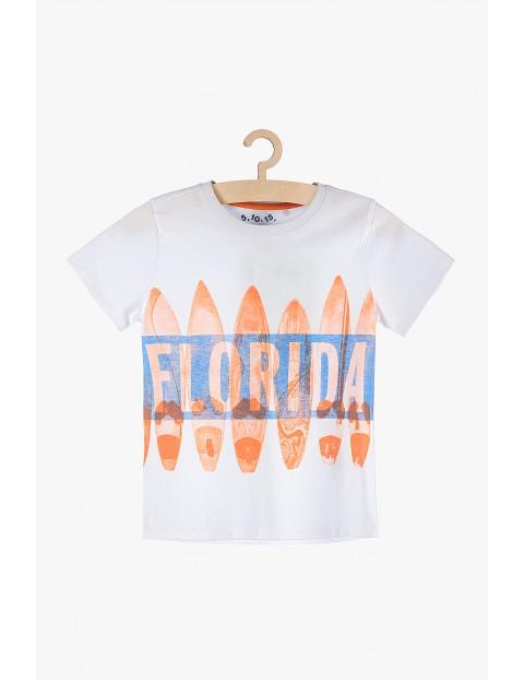 T-shirt chłopięcy Florida biały