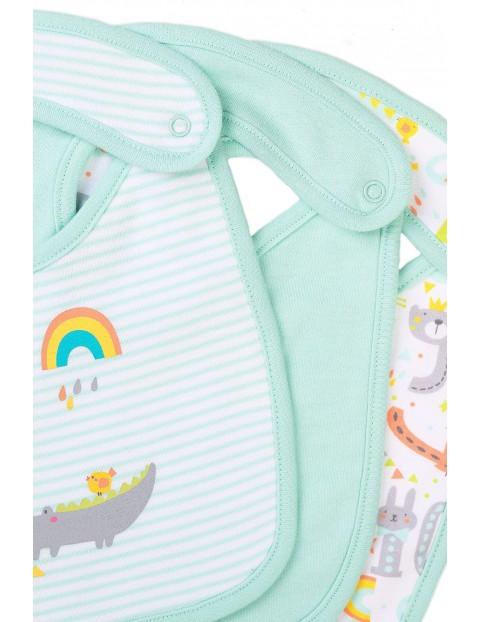 Bawełniane śliniaki niemowlęce - 3pak
