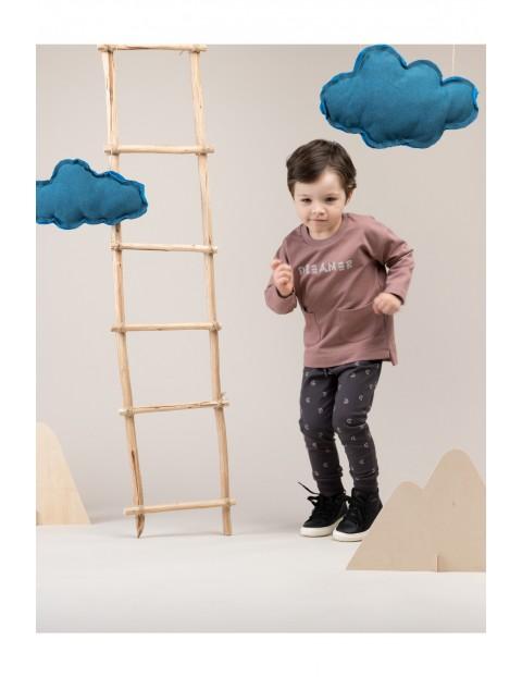Spodnie dresowe  chłopięce Dreamer w księżyce w kolorze grafitowym