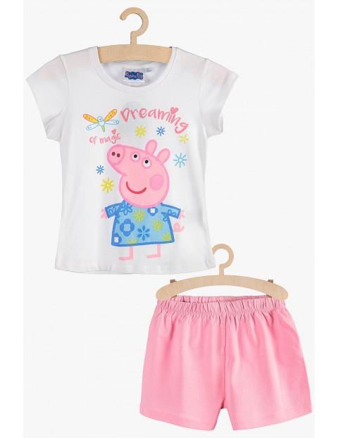 Pidżama dziewczęca Świnka Peppa biało-różowa