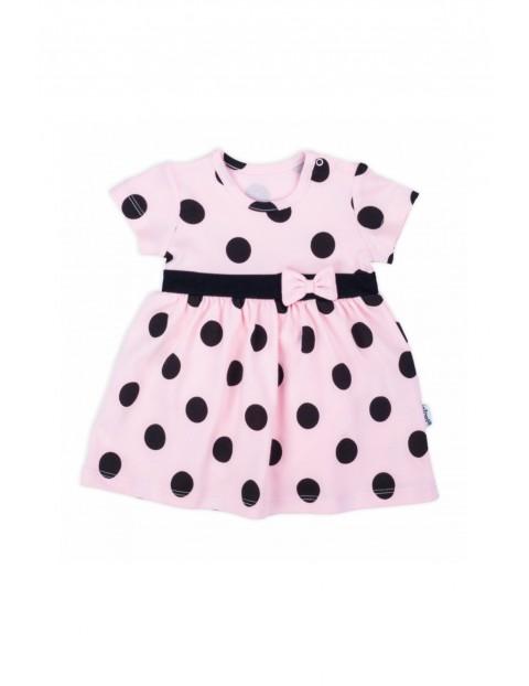 Bawełniana sukienka niemowlęca w grochy