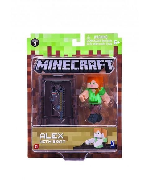 Figurka Minecraft Alex z łodzią