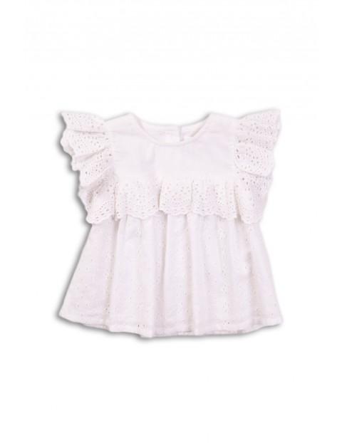 Bluzka dziewczęca w kolorze białym- ażurowa