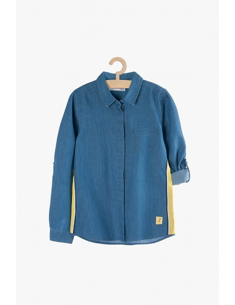 Koszula jeansowa dla dziewczynki-niebieska