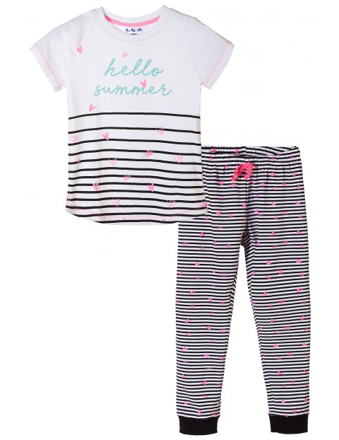 Pidżama dziewczęca hello summer