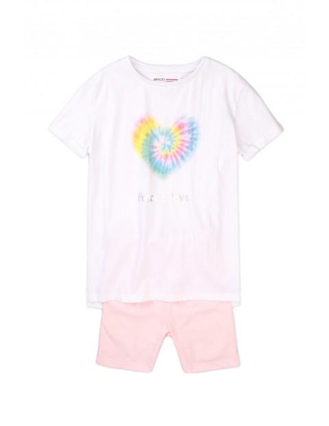 Komplet niemowlęcy bawełniany- bluzka + szorty