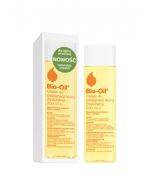 Bio-Oil Olejek Naturalny do skóry wrażliwej na blizny i rozstępy  200 ml