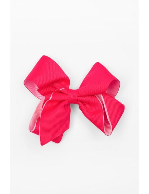 Spinka do włosów- różowa kokarda