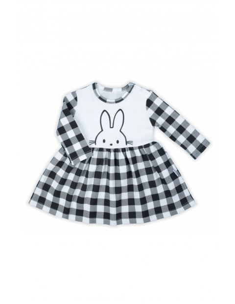 Bawełniana sukienka niemowlęca w kratkę