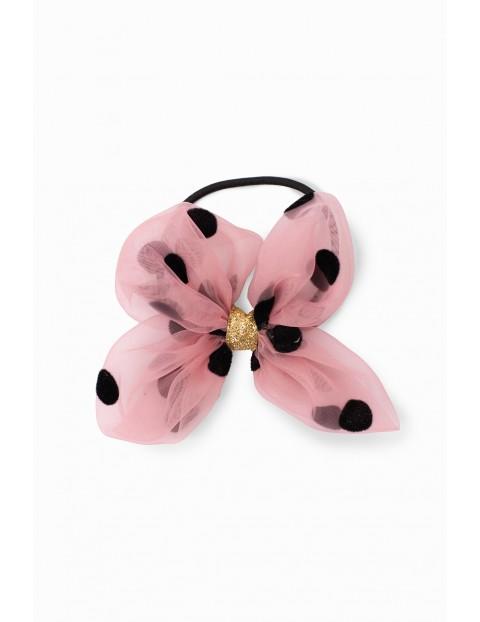 Gumka do włosów dla dziewczynki w kształcie kwiatka - różowa