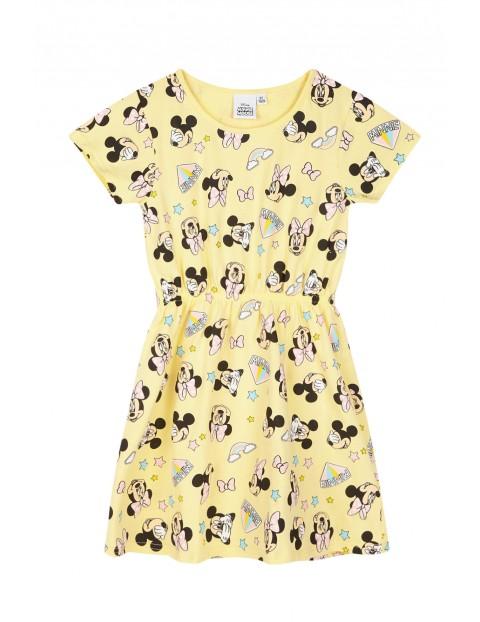 Sukienka dziewczęca Myszka Minnie żółta