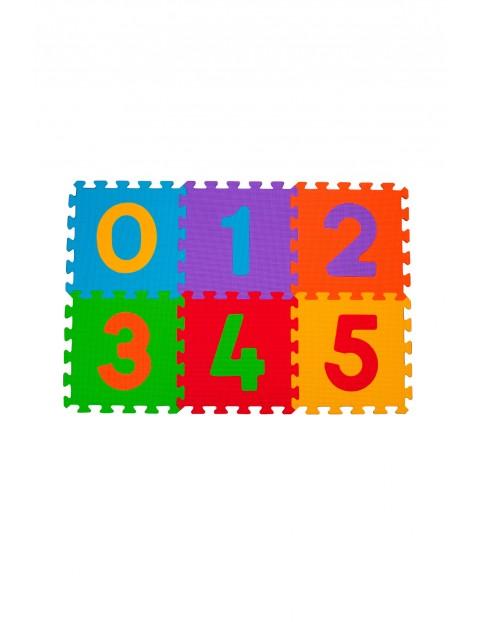 Puzzle piankowe 6 szt cyfry
