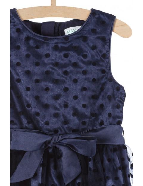 Sukienka na specjalne okazje- granatowa z tiulem