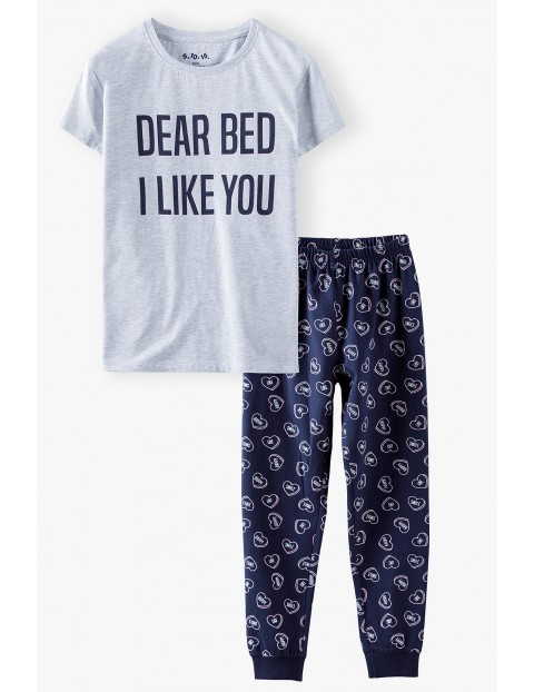 Dzianinowa piżama dla dziewczynki