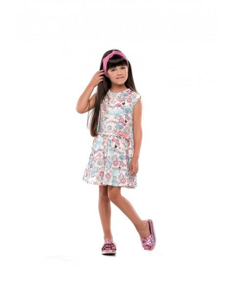 3c4890bb79 Sukienka dziewczęca kolorowa bawełniana