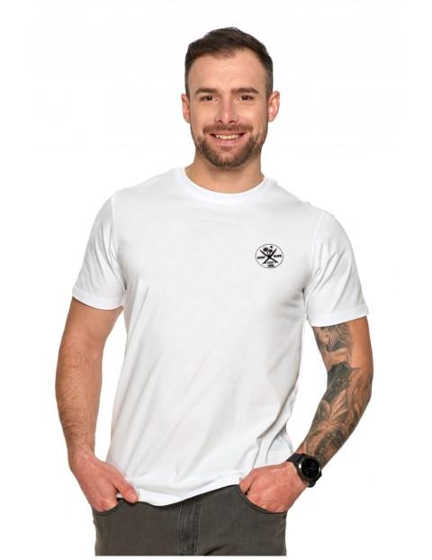 Biały T-shirt męski Surf