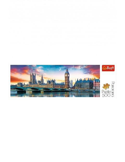 Puzzle Panorama-Big Ben i Pałac Westminsterski, Londyn-500 el