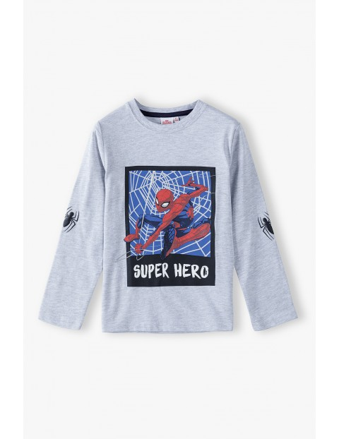 Bluzka chłopięca szara Spiderman
