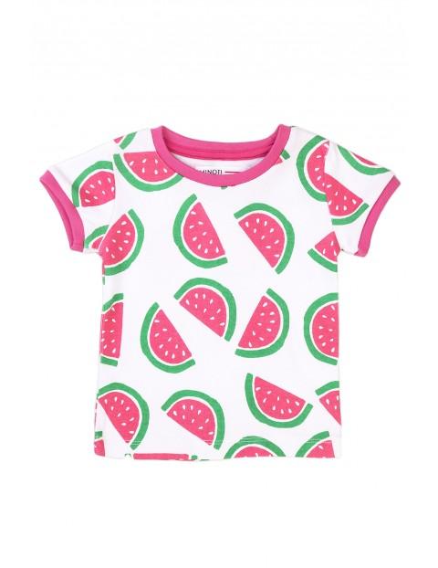 Piżama niemowlęca dwuczęściowa bawełniana w arbuzy