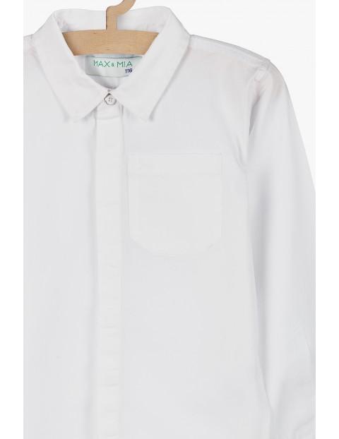 Elegancka biała koszula z długim rękawem