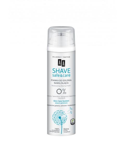 AA Shave Safe&Care nawilżająca pianka do golenia aloes&gliceryna 250 ml