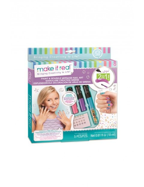 Make it real - Zestaw do manicure z motywem syren wiek 8+