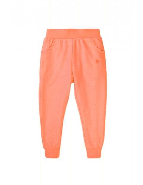 Spodnie dresowe dziewczęce brzoskwiniowe