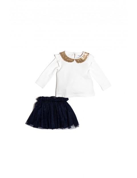 Komplet dziewczęcy bluzka+spódnica3P35A6