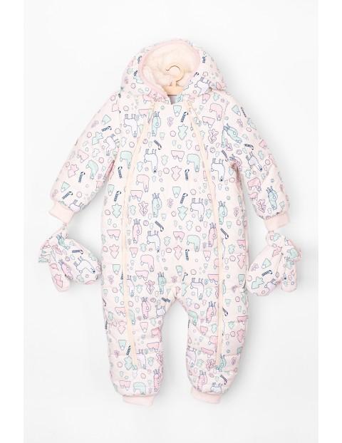 Kombinezon zimowy dla niemowlaka w lamy