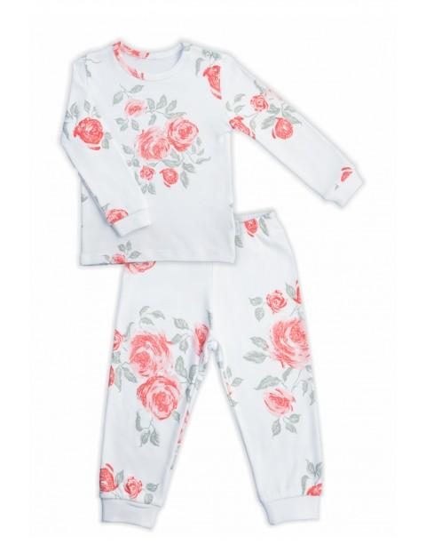 Bawełniana piżama dziewczęca z kolekcji Róża