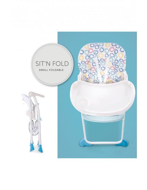 Krzesełko Sit N Fold circles multi w kolorze białym