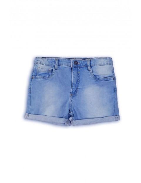 Jasne spodenki jeansowe dla dziewczynki rozm 92/98