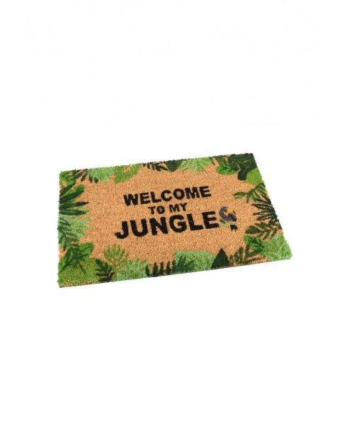 Wycieraczka prostokątna kokosowa- Welcome to my Jungle 40x60cm