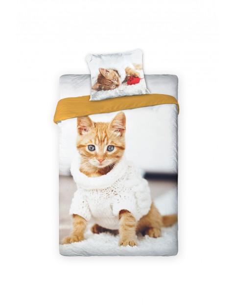 Pościel bawełniana z kotkami 140x200+70x80cm