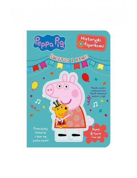 Książki dziecięce - Świnka Peppa. Historyjki z figurkami. Świętuj z nami!