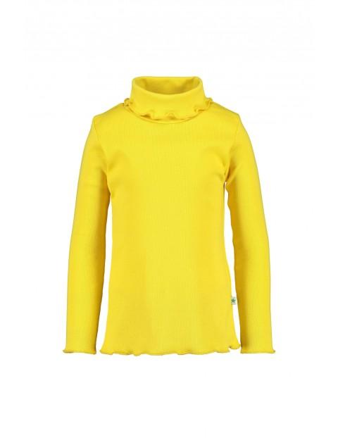 Golf dla dziewczynki-żółty w prążki