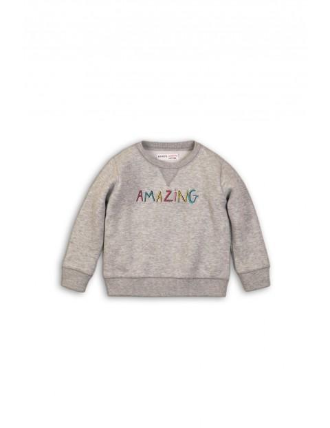 Bluza dresowa niemowlęca szara Amazing